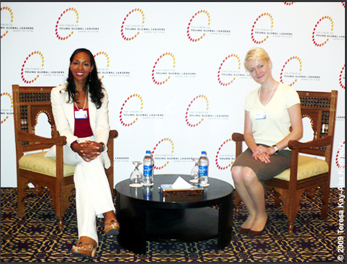 Teresa Kay-Aba Kennedy and Ewa Sadowska at the Young Global Leaders Dead Sea Summit in conjunction with the World Economic Forum on the Middle East in Jordan - May 2009