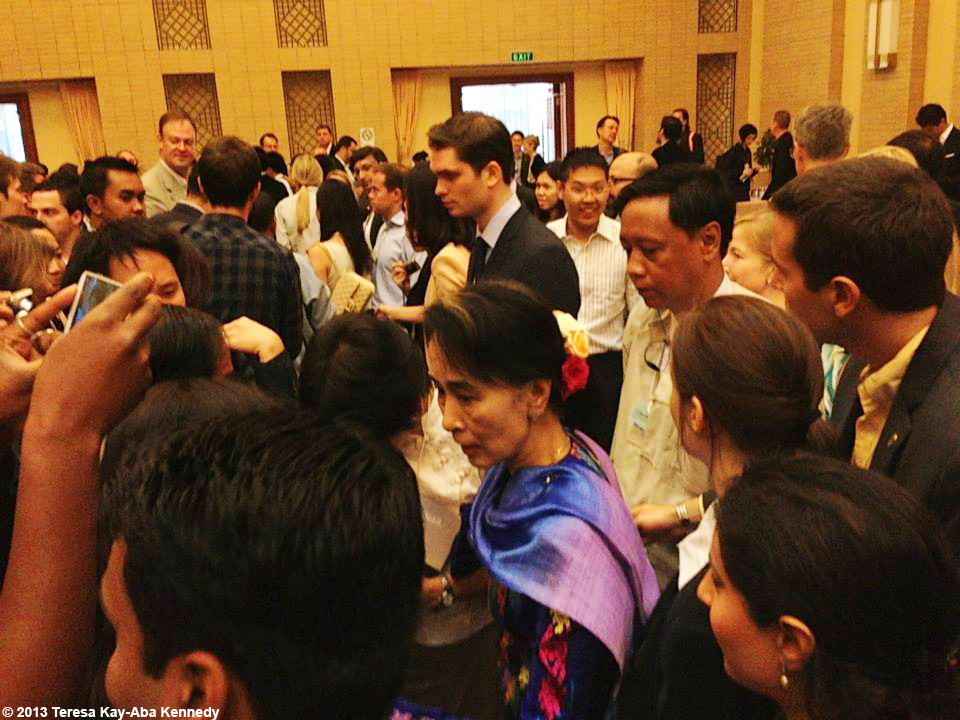 Young Global Leaders with Nobel Peace Laureate Aung San Suu Kyi at the World Economic Forum on East Asia in Nay Pyi Taw, Myanmar - June 2013