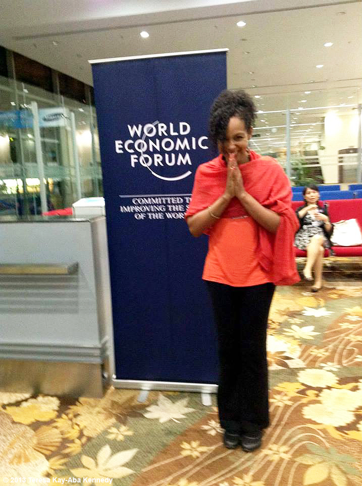 Teresa Kay-Aba Kennedy at the airport in Yangon on her way to the World Economic Forum in Nay Pyi Taw, Myanmar - June 2013