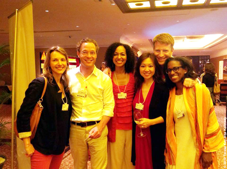 Teresa Kay-Aba Kennedy with Prince Jaime Bernardo of Bourbon-Parma, Peggy Liu, Mark Vlasic and Binta Niambi Brown during the Young Global Leader Summit in conjunction with the World Economic Forum in Myanmar - June 2013
