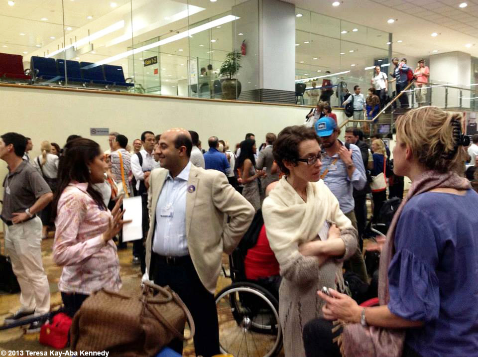 Young Global Leaders at the airport in Yangon on their way to the World Economic Forum in Nay Pyi Taw, Myanmar - June 2013