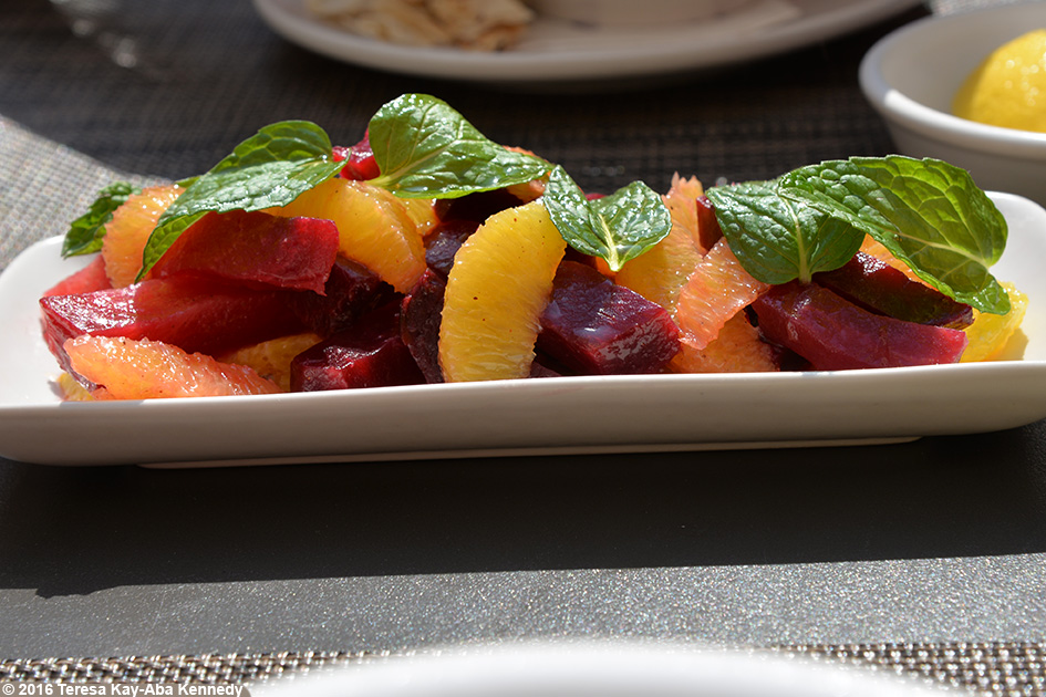 Beet Salad at Manzil Downtown Dubai, United Arab Emirates – February 17, 2016