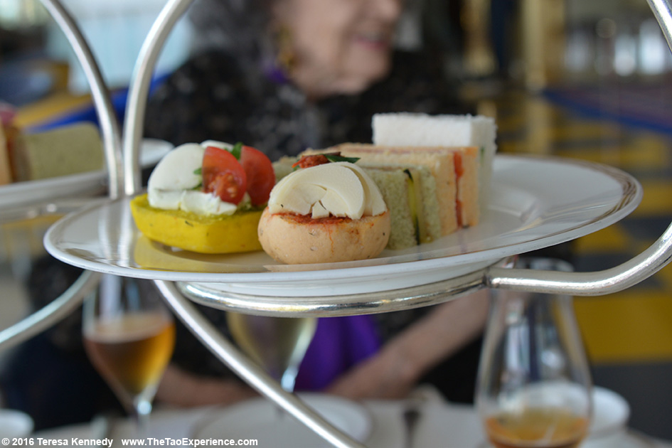 High Tea at the exclusive Burj Al Arab 7-star hotel in Dubai, United Arab Emirates - February 18, 2016