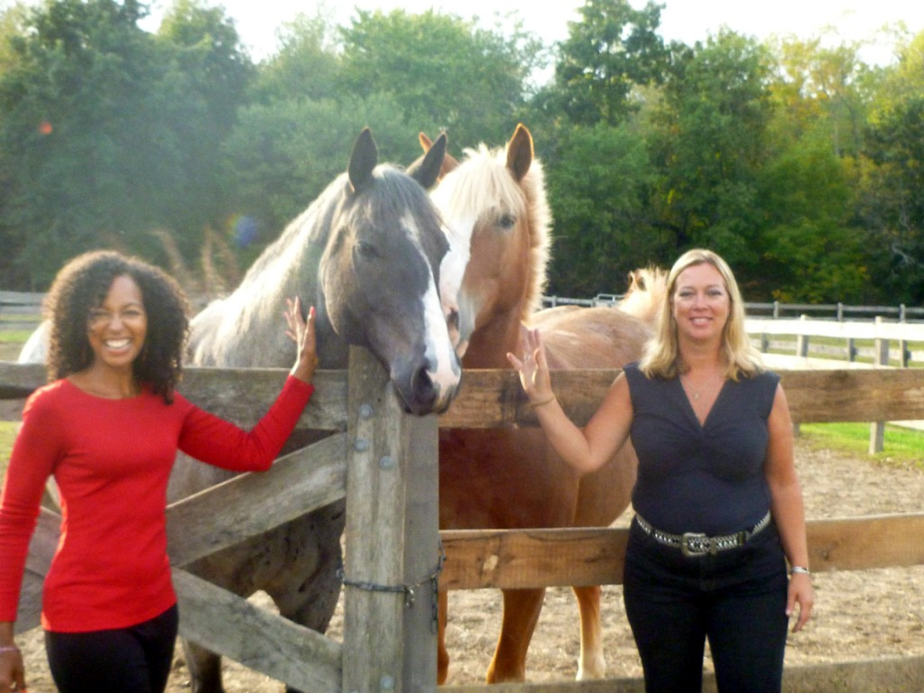 Teresa Kay-Aba Kennedy and Kathy Krupa at Old Stone Farm in Staatsburg, NY - September 2012