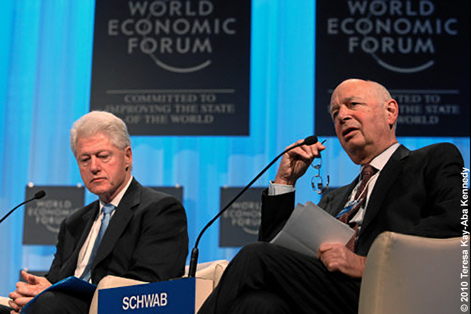 President Bill Clinton and Professor Klaus Schwab at the World Economic Forum Annual Meeting in Davos, Switzerland - January 2010