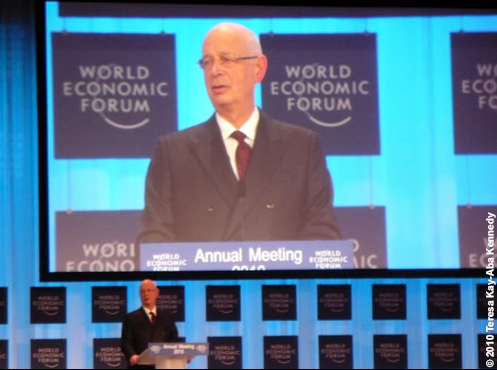 Professor Klaus Schwab at the World Economic Forum Annual Meeting in Davos, Switzerland - January 2010