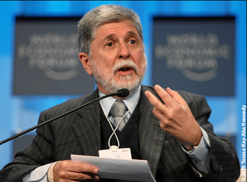 Celso Amorim, Minister of Foreign Relations of Brazil, at the World Economic Forum Annual Meeting in Davos, Switzerland - January 2010