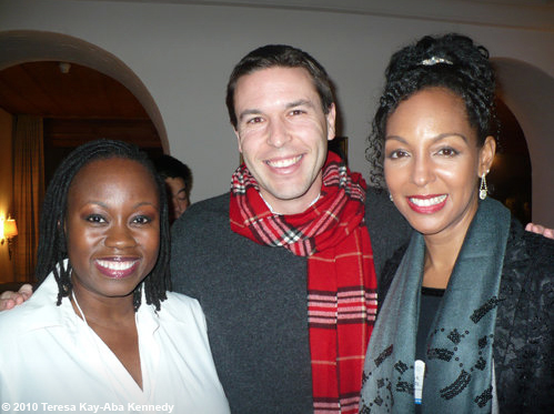 Tumi Makgabo, John Dutton and Teresa Kay-Aba Kennedy at the World Economic Forum Annual Meeting in Davos, Switzerland - January 2010