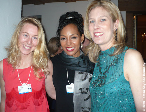 Caroline Casey, Teresa Kay-Aba Kennedy and Silvana Koch-Mehrin at the World Economic Forum in Davos, Switzerland - January 2010