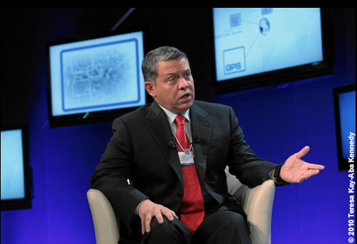 H.M. King Abdullah II Ibn Al Hussein, King of the Hashemite Kingdom of Jordan at the World Economic Forum Annual Meeting in Davos, Switzerland - January 2010