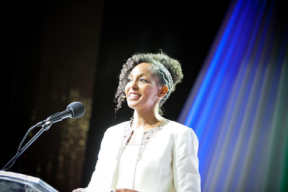 Teresa Kay-Aba Kennedy as keynote speaker for Sagicor Motivational Seminar in Montego Bay, Jamaica - October 1, 2011