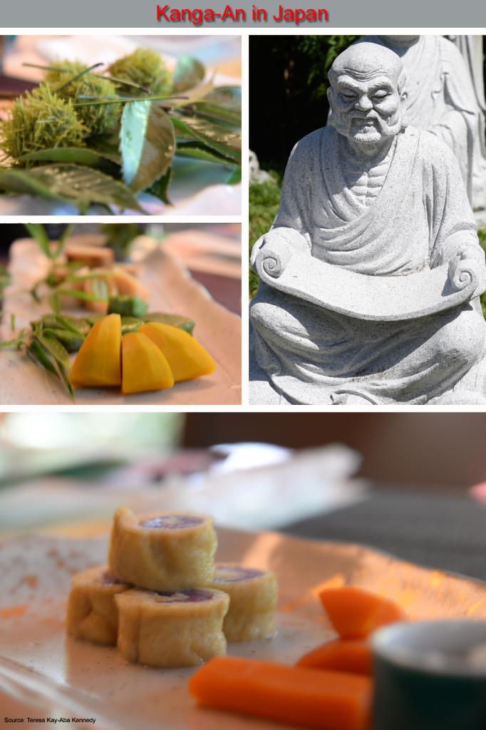 Teresa Kay-Aba Kennedy enjoyingfood Zen Buddhist monks eat at Kanga-An in Kyoto, Japanafter the Young Global Leaders Summit in Beijing, China - September 2014