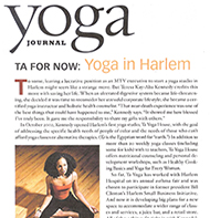 Teresa Kay-Aba Kennedy featured in Yoga Journal - May/June 2004
