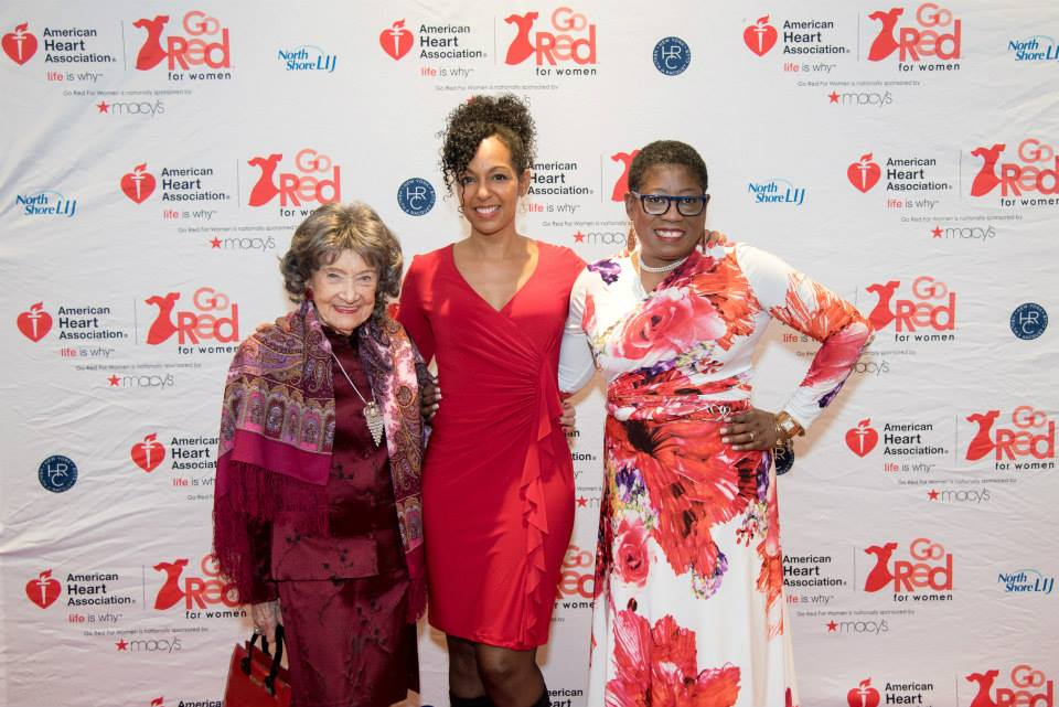 96-year-old Yoga Master Tao Porchon-Lynch, Teresa Kay-Aba Kennedy, Dionne Polite at the American Heart Association Go Red Luncheon at the NY Hilton Midtown - March 3, 2015