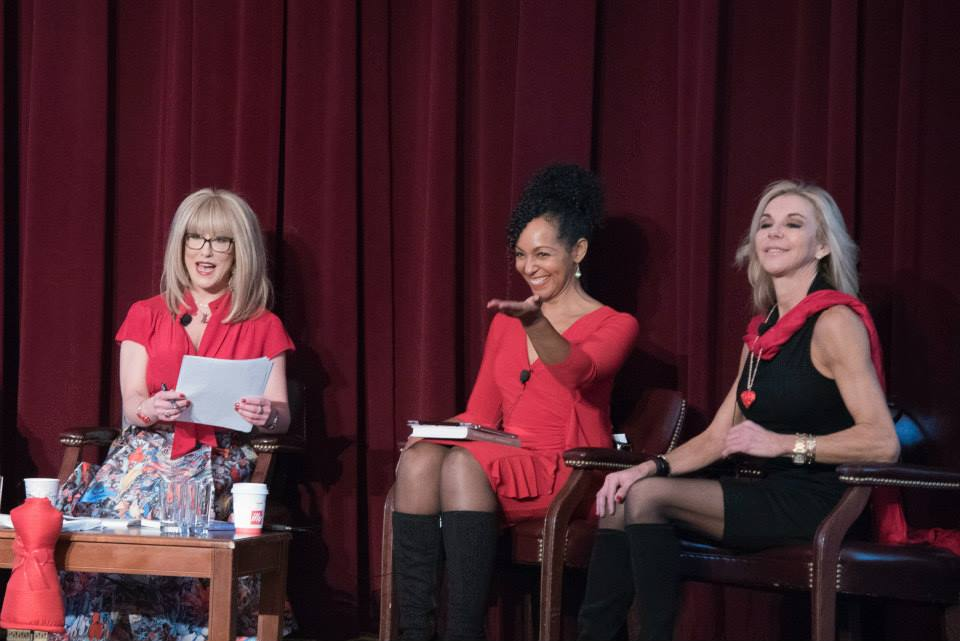 Teresa Kay-Aba Kennedy speaking on the American Heart Association Go Red Educational Panel at the NY Hilton Midtown - March 3, 2015