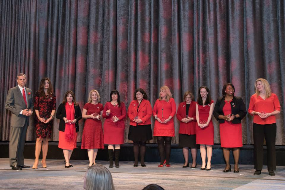 Honorees at the American Heart Association Go Red Luncheon at the NY Hilton Midtown - March 3, 2015
