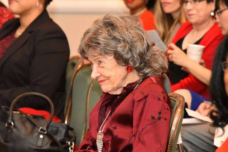 96-year-old Yoga Master Tao Porchon-Lynch at the American Heart Association Go Red Educational Panel at the NY Hilton Midtown - March 3, 2015