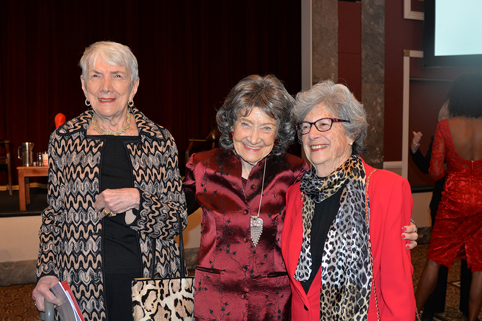 96-year-old Tao Porchon-Lynch and other ladies at the American Heart Association Go Red Luncheon at the NY Hilton Midtown - March 3, 2015