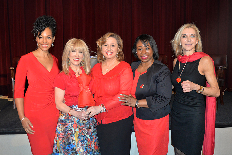 Teresa Kay-Aba Kennedy, Dr. Suzanne Steinbaum, Agapi Stassinopoulos, Dr. Icilma Fergus, MaryAnn Browning at the American Heart Association Go Red Luncheon at the NY Hilton Midtown - March 3, 2015