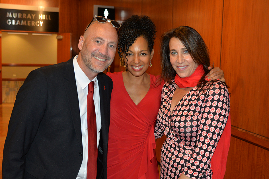 Brett Berns, Teresa Kay-Aba Kennedy, Cassie Berns at the American Heart Association Go Red Luncheon at the NY Hilton Midtown - March 3, 2015