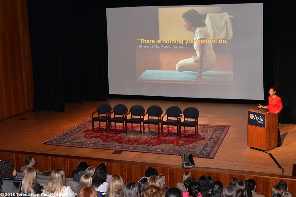 Teresa Kay-Aba Kennedy speaking at the Womensphere Global Summit in New York – March 4, 2016