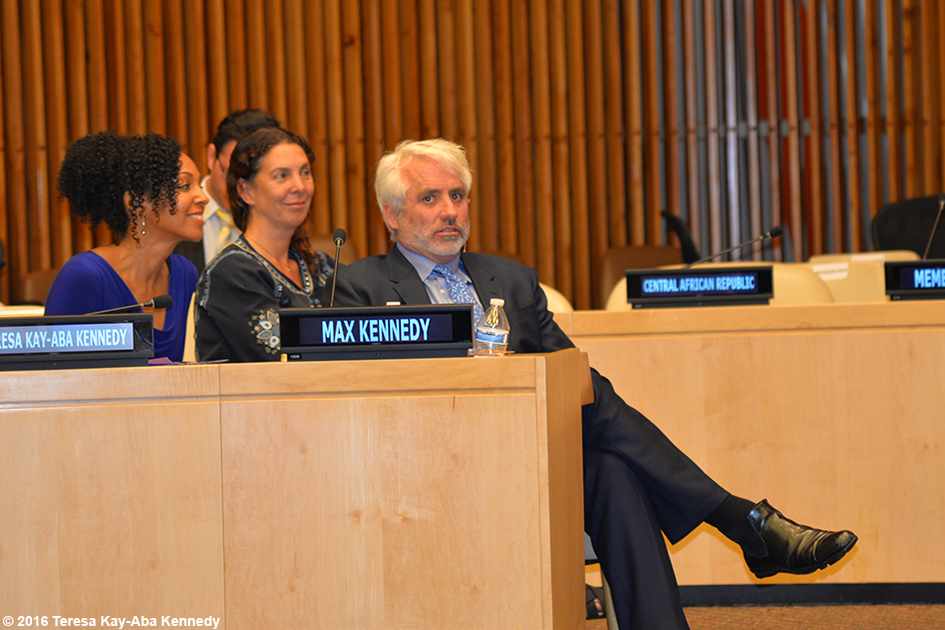 Teresa Kay-Aba Kennedy, Victoria Anne Strauss and Max Kennedy at United Nations for International Yoga Day event – June 20, 2016