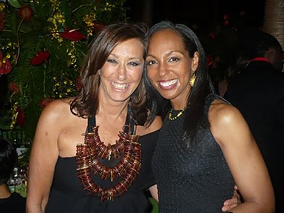 Donna Karan and Teresa Kay-Aba Kennedy at the HealthCorps Green Garden Gala in New York - April 20, 2009
