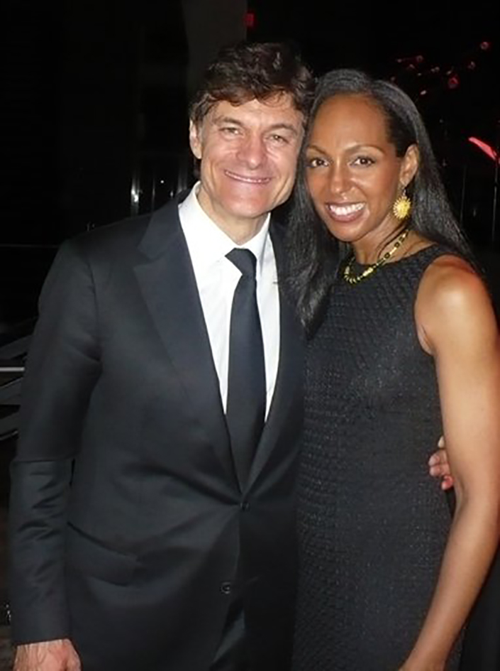 Dr. Mehmet Oz and Teresa Kay-Aba Kennedy at the HealthCorps Green Garden Gala in New York - April 20, 2009