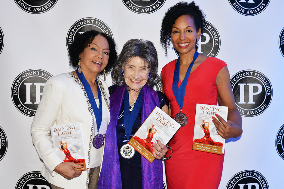 Janie Sykes Kennedy, Tao Porchon-Lynch and Teresa Kay-Aba Kennedy at Independent Book Awards Ceremony in Chicago, IL – May 2016