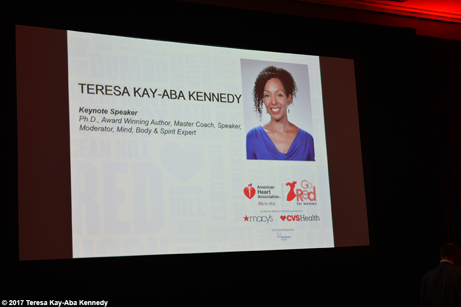 Teresa Kay-Aba Kennedy as Keynote Speaker for American Heart Association Go Red Luncheon in Brooklyn, NY - June 2, 2017