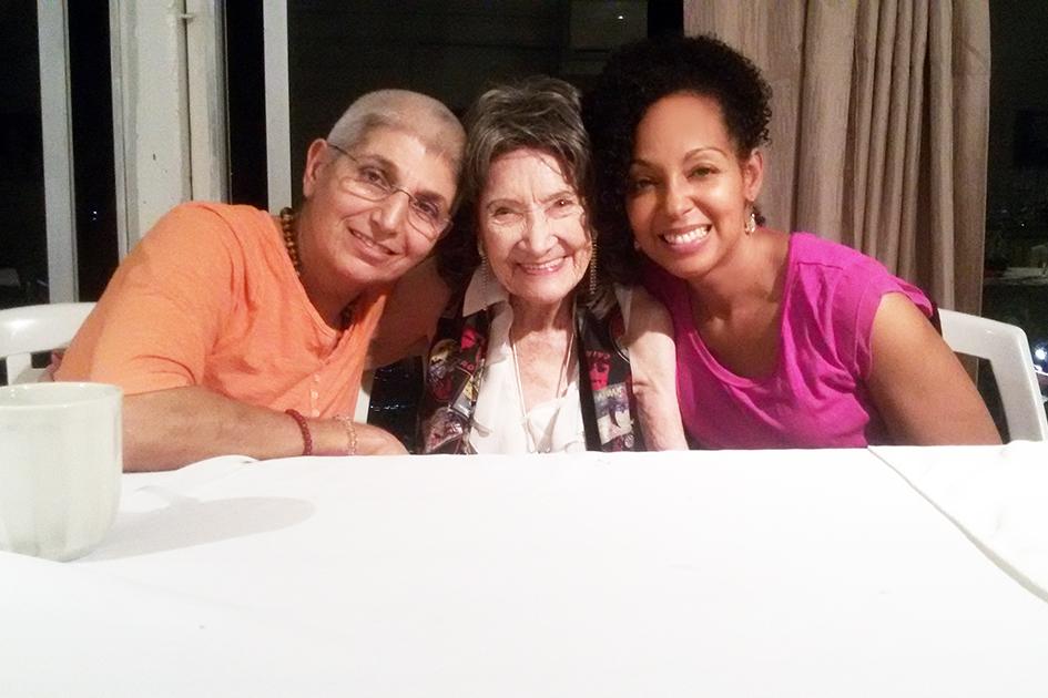 97-year-old Yoga Master Tao Porchon-Lynch at Sivananda Ashram Yoga Retreat Bahamas – January 10, 2016