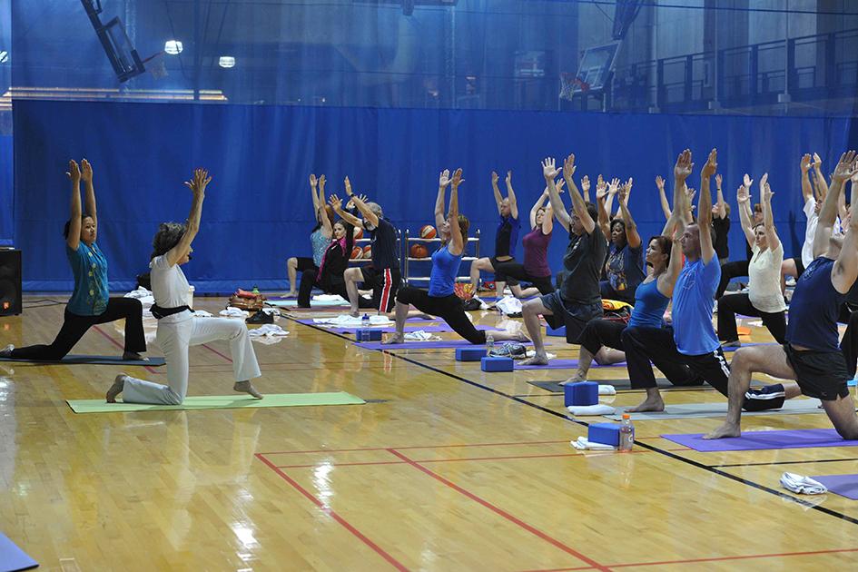 93-year-old yoga master Tao Porchon-Lynch teaching at the Pentagon - June 8, 2012