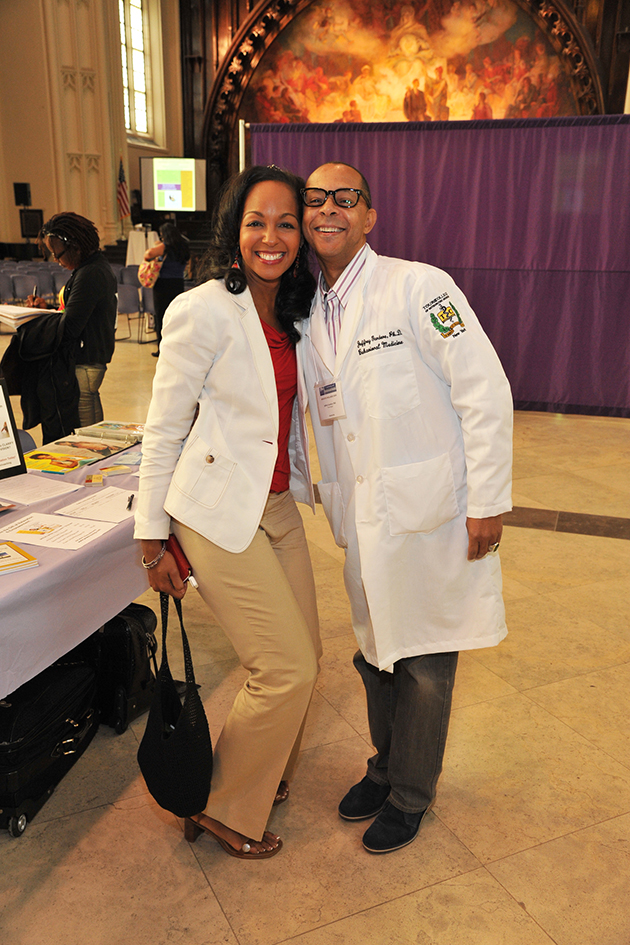 Teresa Kay-Aba Kennedy and Dr. Jeff Gardere at the 1st Annual Holistic Wellness Expo at The City College of New York - April 28, 2012