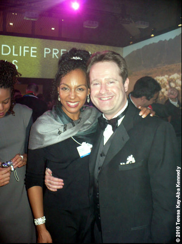 Teresa Kay-Aba Kennedy and Christopher Logan at the World Economic Forum Annual Meeting in Davos, Switzerland - January 2010
