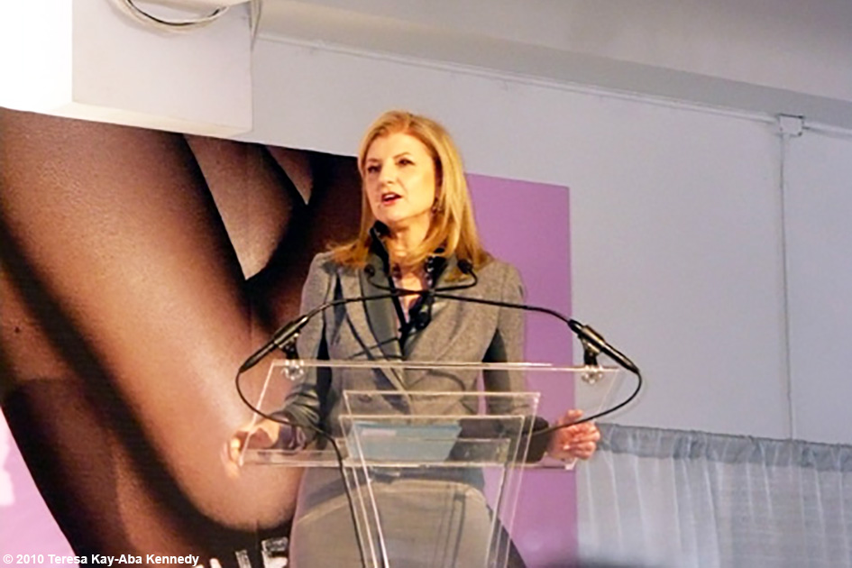 Arianna Huffington co-hosting the WIE Symposium in New York - September 20, 2010
