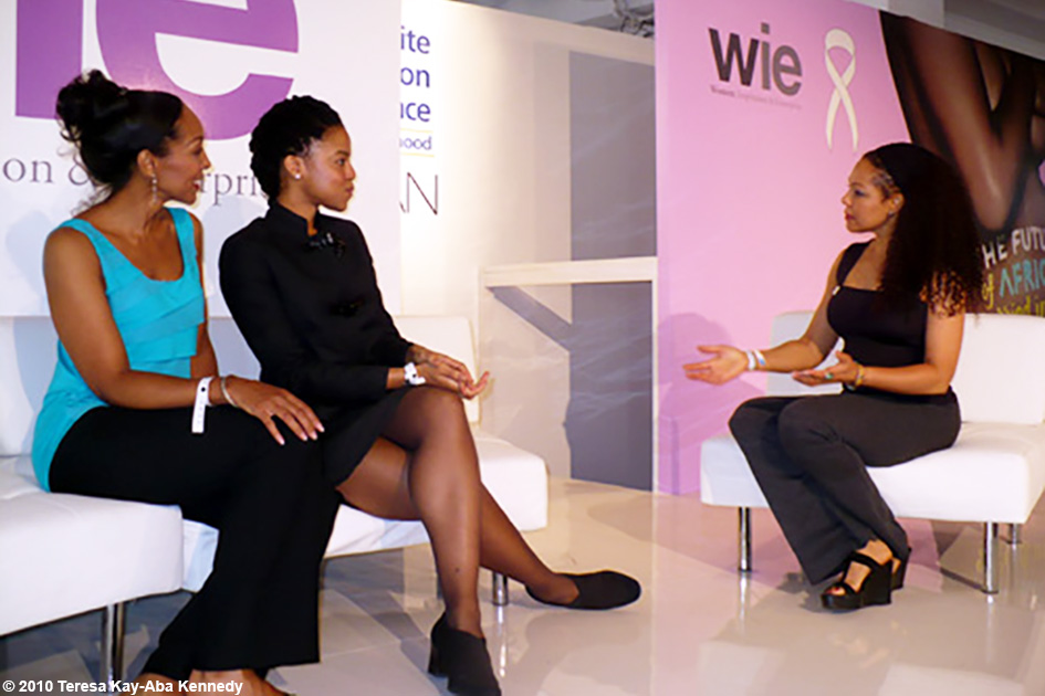 Teresa Kay-Aba Kennedy, Natalia Allen and Sheila Kennedy Bryant at the WIE Symposium in New York - September 20, 2010