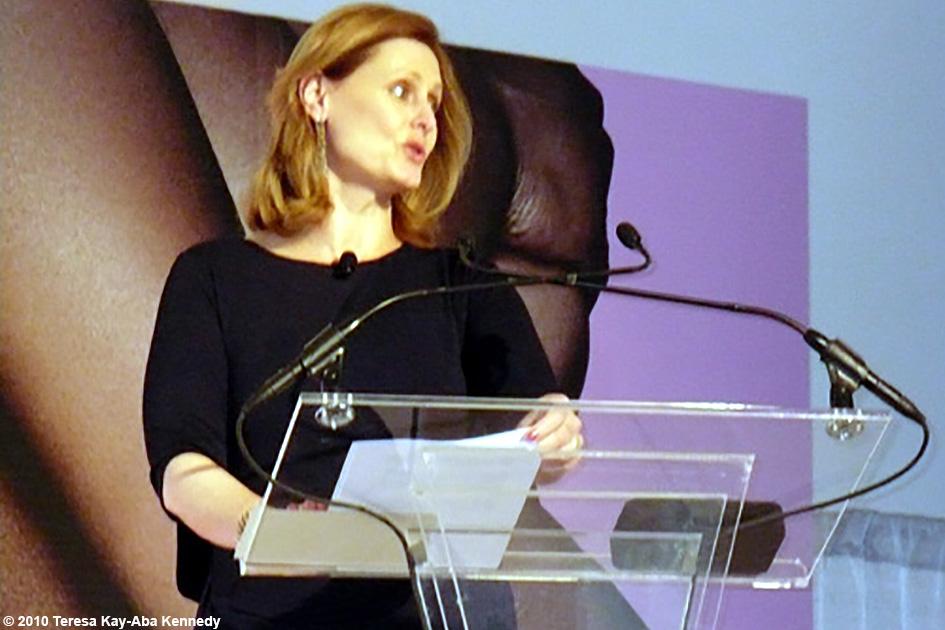 Sarah Brown at the WIE Symposium in New York - September 20, 2010