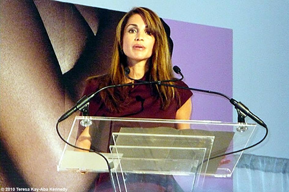 Her Majesty Queen Rania of Jordan speaking at the WIE Symposium in New York - September 20, 2010