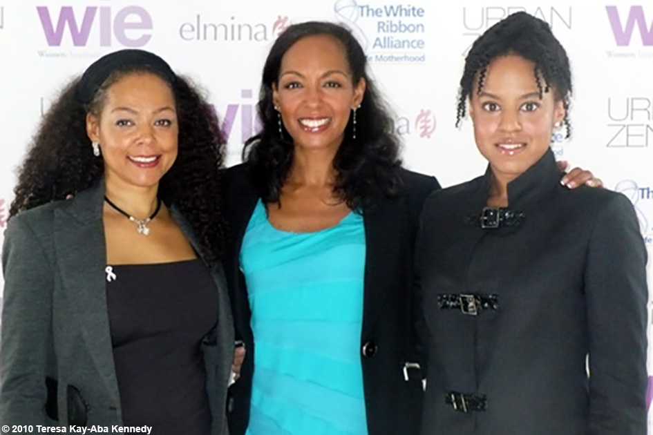 Sheila Kennedy Bryant, Teresa Kay-Aba Kennedy and Natalia Allen at the WIE Symposium in New York - September 20, 2010