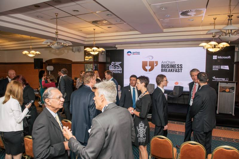 AmCham Business Breakfast at the Bled Strategic Forum in Slovenia - September 5, 2017