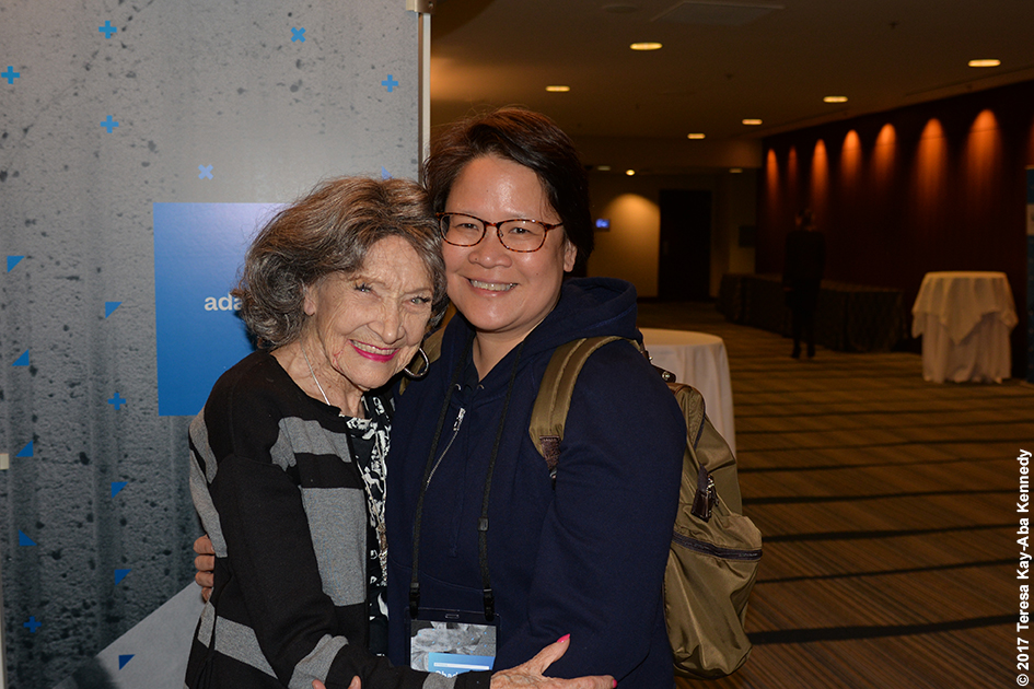 98-year-old yoga master Tao Porchon-Lynch at the LX Conference in San Francisco – April 25, 2017