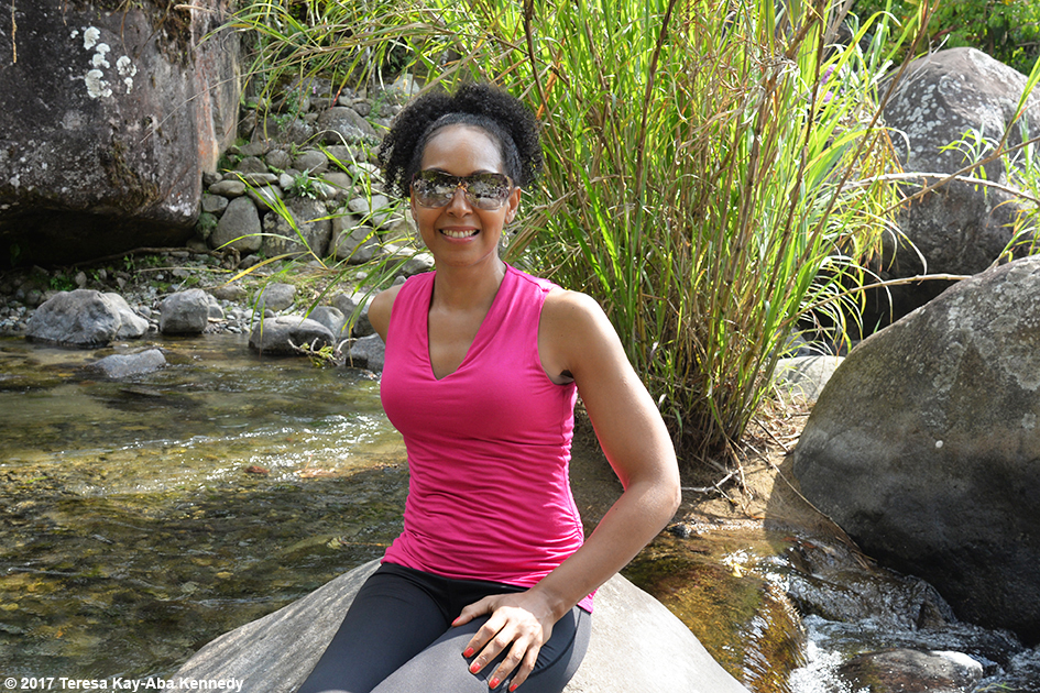 Teresa Kay-Aba Kennedy in Costa Rica for the Vortex Founder