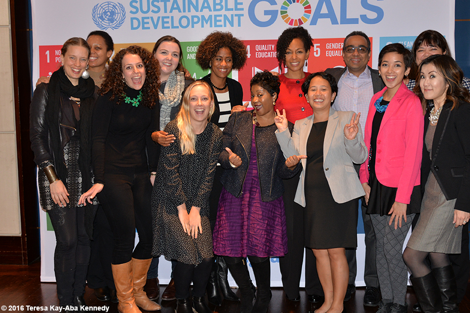 Teresa Kay-Aba Kennedy and other presenters at the Womensphere Global Summit in New York – March 4, 2016