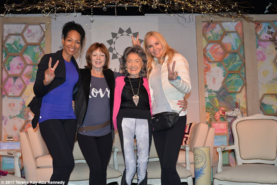 Teresa Kay-Aba Kennedy, Frances Fisher, Tao Porchon-Lynch, Eloise DeJoria at Lead With Love Conference in Aspen, Colorado - October 27, 2017