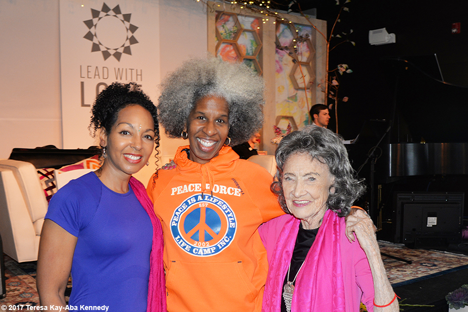 Teresa Kay-Aba Kennedy, Erica Ford and Tao Porchon-Lynch at Lead With Love Conference in Aspen, Colorado - October 27, 2017