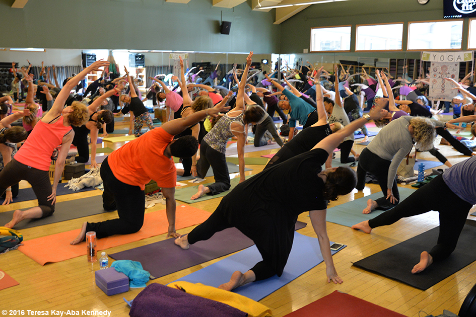 97-year-old yoga master Tao Porchon-Lynch at ClubFit in Briarcliff Manor, NY – June 11, 2016