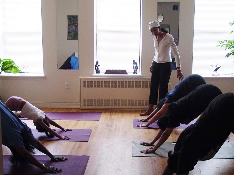 Teresa Kay-Aba Kennedy teaching at the Ta Yoga House in Harlem