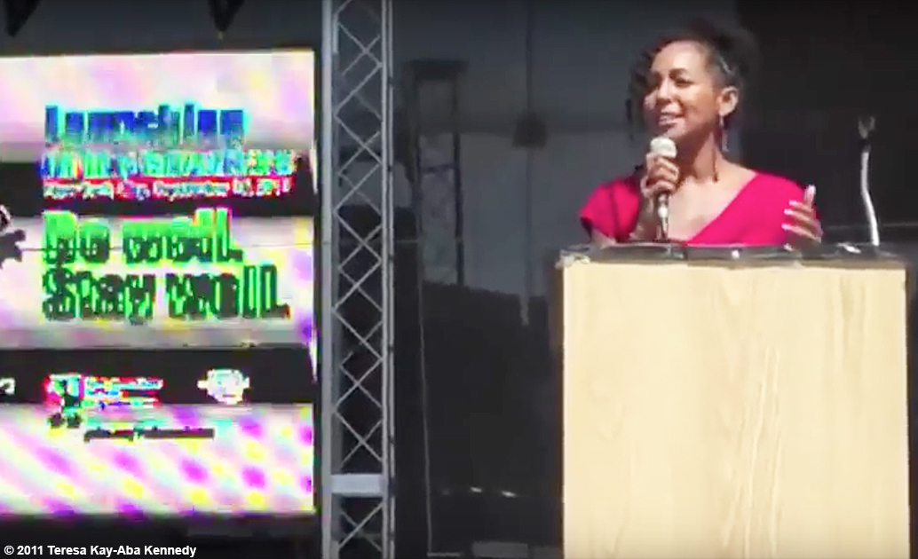 Teresa Kay-Aba Kennedy giving motivational kickoff for Wellness Week in New York - September 16, 2011