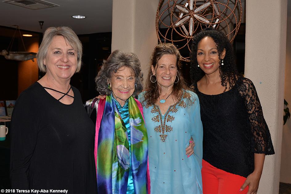 Ginny Beal, 99-year-old yoga master Tao Porchon-Lynch, Ruth Hartung and Teresa Kay-Aba Kennedy at the Sedona Yoga Festival – February 9, 2018