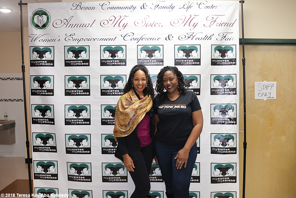 Teresa Kay-Aba Kennedy and Michele Ware at the Berean Community & Family Life Center Annual My sister, My Friend Women